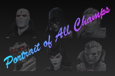 Portrait Showcase of All Champions