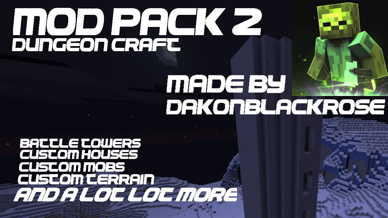 Minecraft PS3PS4PC DungeonCraft Mod Pack Map Download