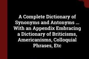 Synonyms and Antonyms dictionary A to Z