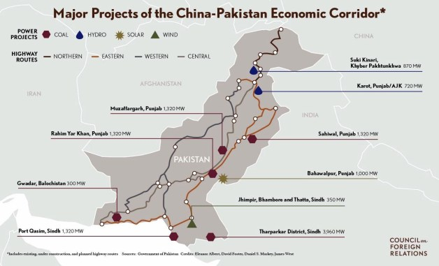 CPEC Essay - Scholarly reports on CPEC Projects in Pakistan route & map