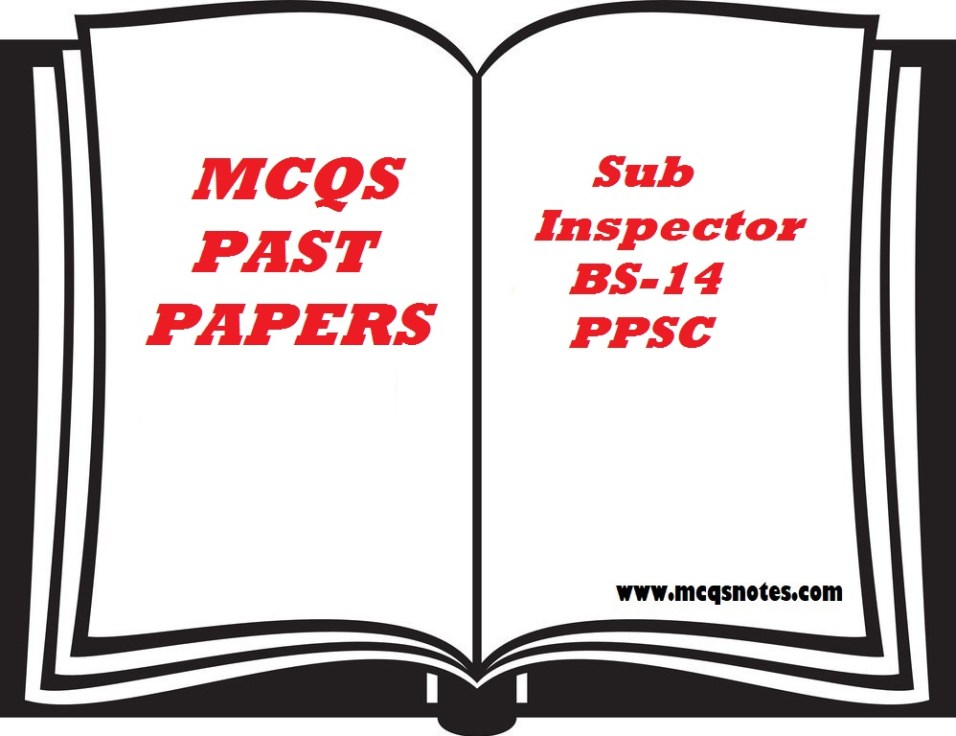 sub inspector past paper ppsc
