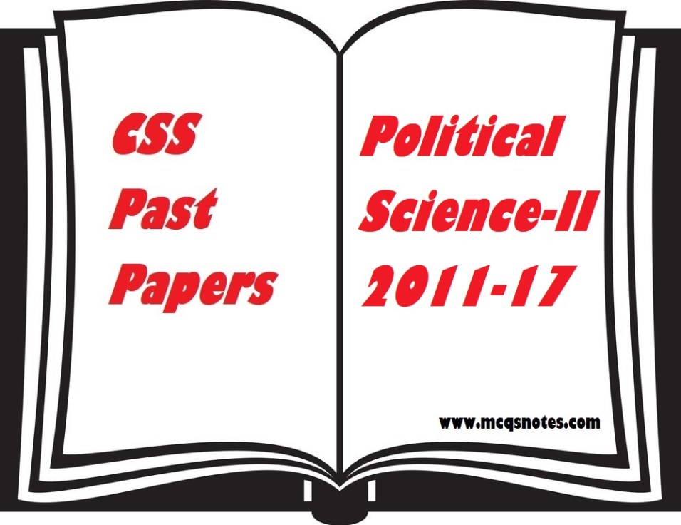 CSS Political Science-II Past Paper