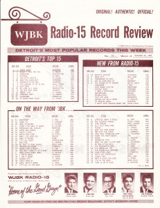 Sandy Selsie No. 32 WJBK November 22, 1963 (click image 2x for largest detailed view).