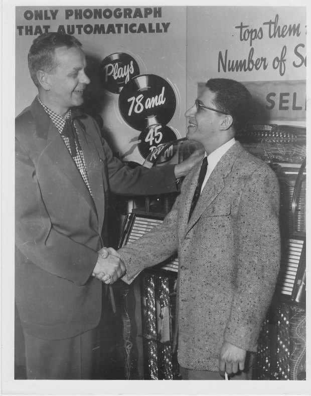 Ed McKenzie With Robin Seymour - Mid To Late 1950's