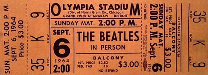 Image result for beatles detroit sept 6 1964