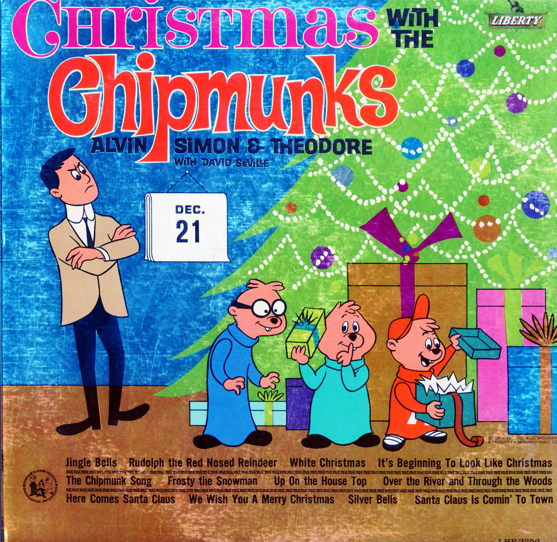alvin simon theodore david seville the chipmunk song december 1962 - Alvin And The Chipmunks Christmas Songs
