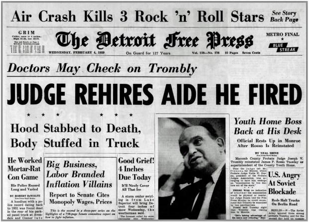 DETROIT FREE PRESS February 4, 1959