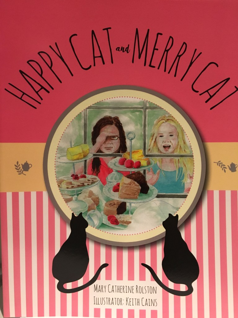 """The cover for the children's story """"Happy Cat and Merry Cat"""""""