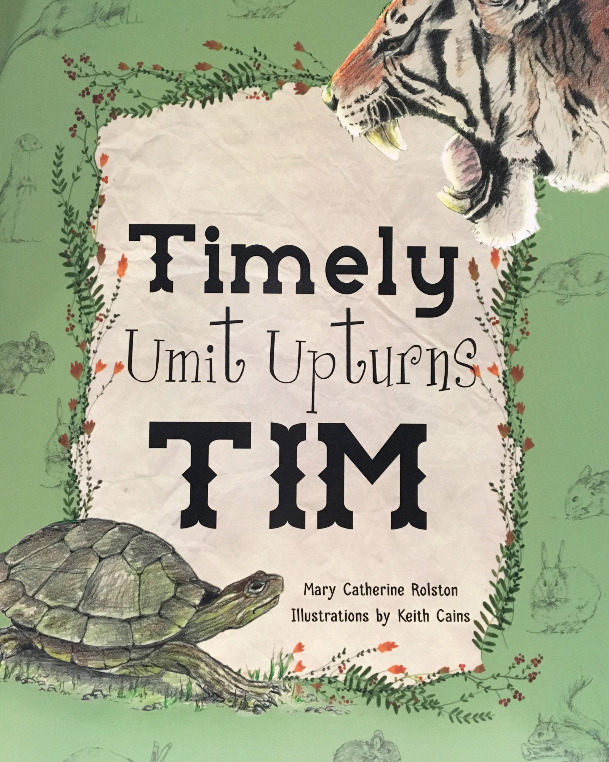 "The cover for the children's story ""Timely Umit Upturns Tim"""