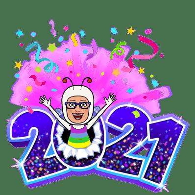 MC Fairy bursting through the '0' in 2021.