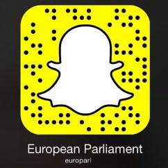 Snapchat european parlament