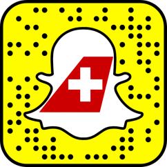 Snapchat flyswiss Swiss Airlines