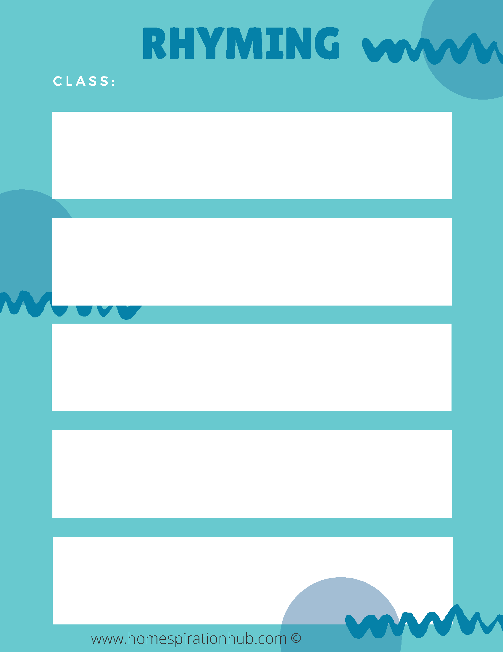 Rhyming Worksheet For Rise Above The Middle