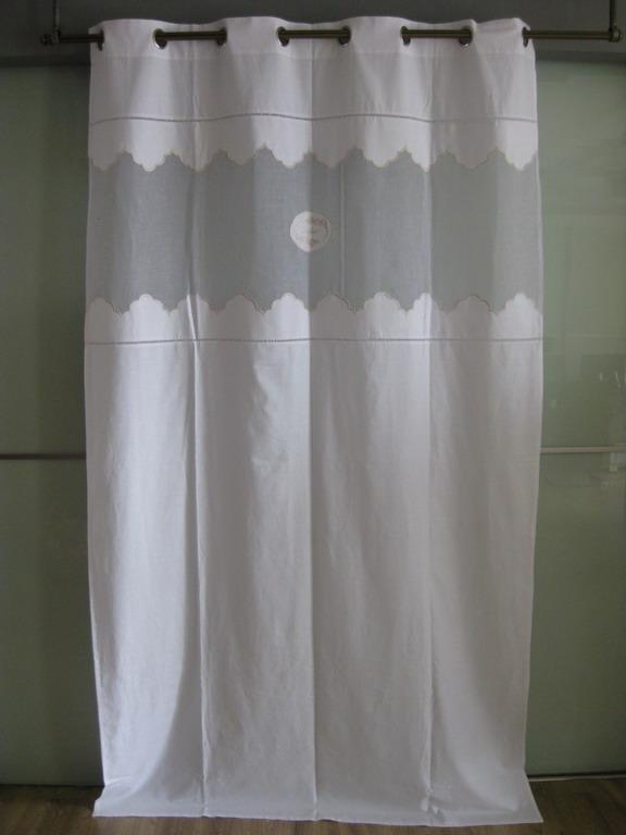 monique blanc rideau coton organdy