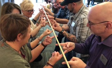 Helium Stick Team Building Game