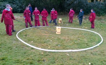 Toxic waste team building game