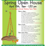 April 18th Spring Open House flyer