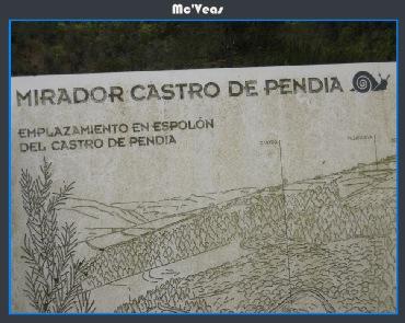 Cartel Mirador castro de Pendia