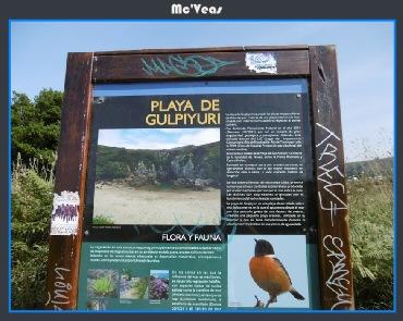 cartel playa gulpiyuri