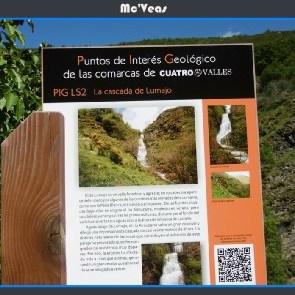 cartel cascada de Lumajo