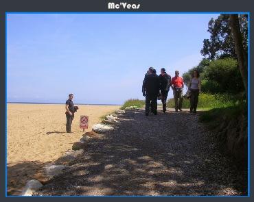 camino lateral playa de la Griega