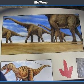 foto cartel dinosaurios