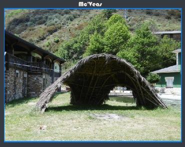 cabaña de paja