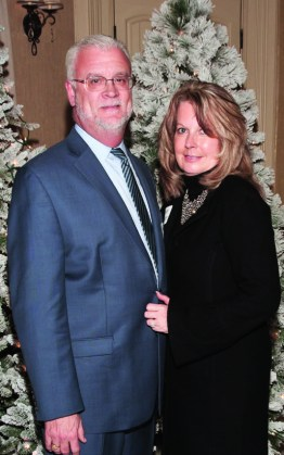 Jeff and Diana Koonce embraced the holiday spirit. Jeff is 2018 chair of the Shriners Corporate Council and city president for WesBanco Lexington.