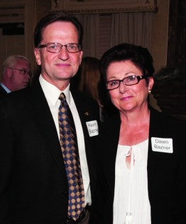 Kevin and Dawn Bazner. Kevin is a Shriners Corporate Council member and president, and CEO of A&W restaurants, Inc.