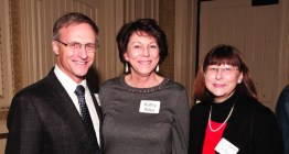 Scott Riley, MD, with wife, Kathy Riley, and Janet Walker, MD.