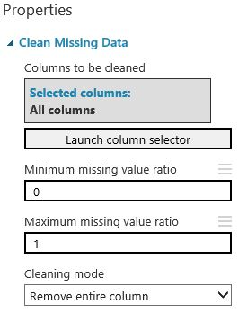 Clean Missing data Azure ML