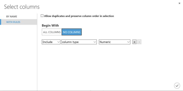Azure-ML-Select-Numerics