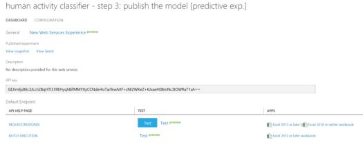 Human Activity Classifier - DataChangers Inspiration - Azure-ML-Testing-Model
