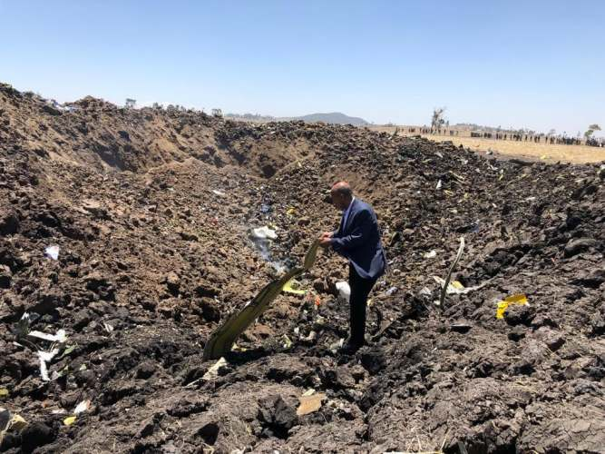 Ethiopian ET302 crash site