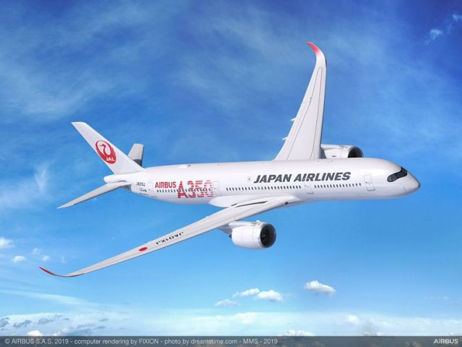 jal a350 900 red logo