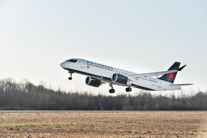 A220 300 Air Canada takeoff