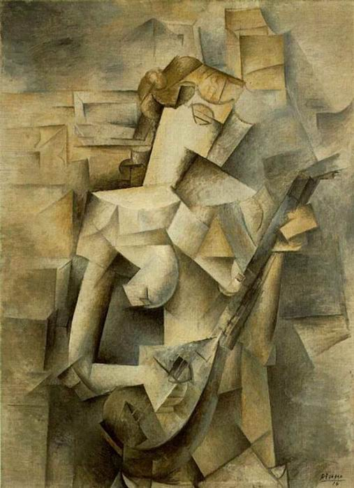 Picasso, Woman playing Mandolin