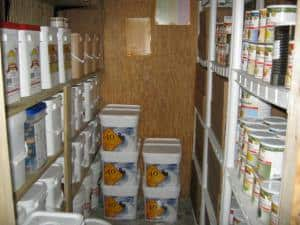 food stockpiling and survival gear for a long-term disaster