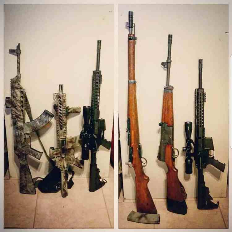 Photo of rifles and ar-15's