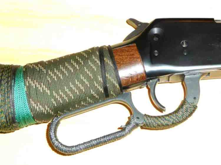 cordage wrapped around rifle stock