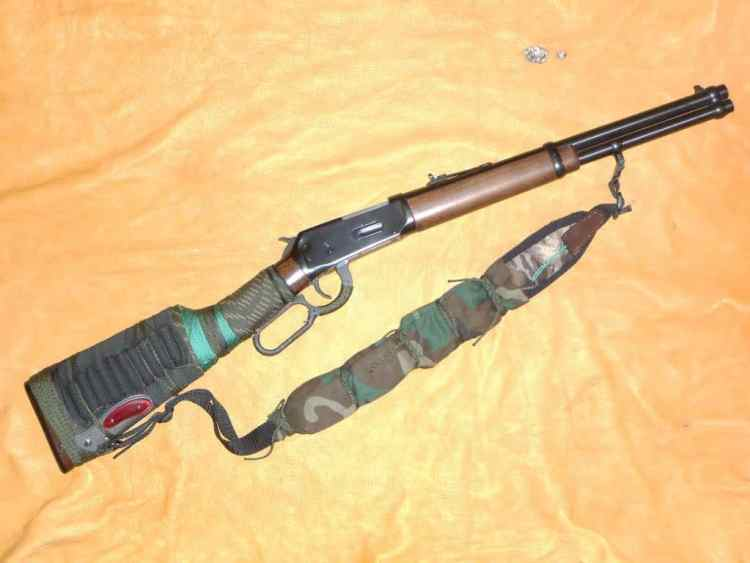 Lever action rifle ready to bug out