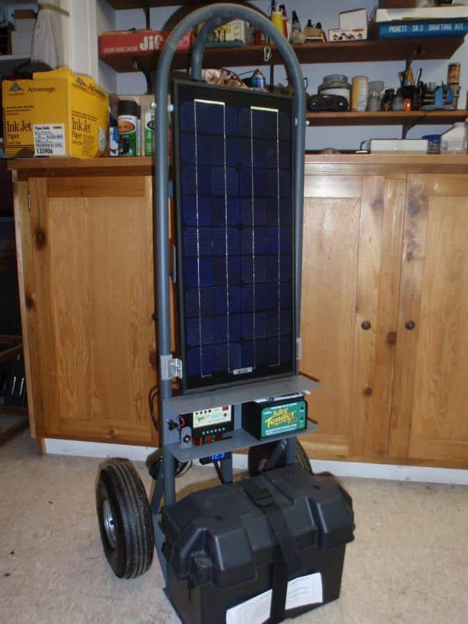mobile solar power station