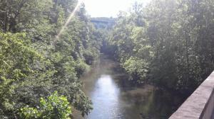 River and bridge in Fentress County TN