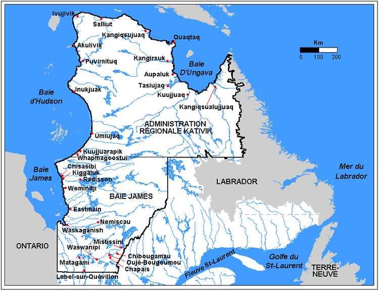 Résultats de recherche d'images pour «carte de la baie james»