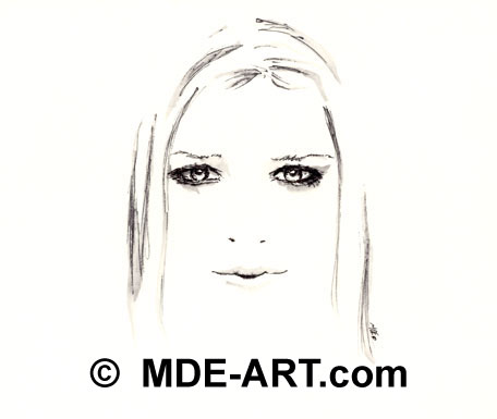 Fan Art, Pen Drawing of Avril Lavigne