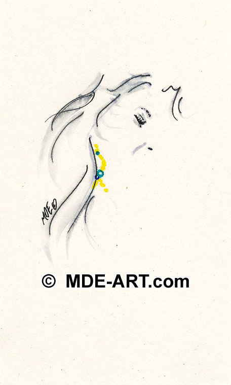 Abstract Pen and Ink drawing of a Female