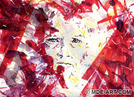 Drawing / Painting of a Face of Unrequitted Love 02 | Abstract Portrait of a Man