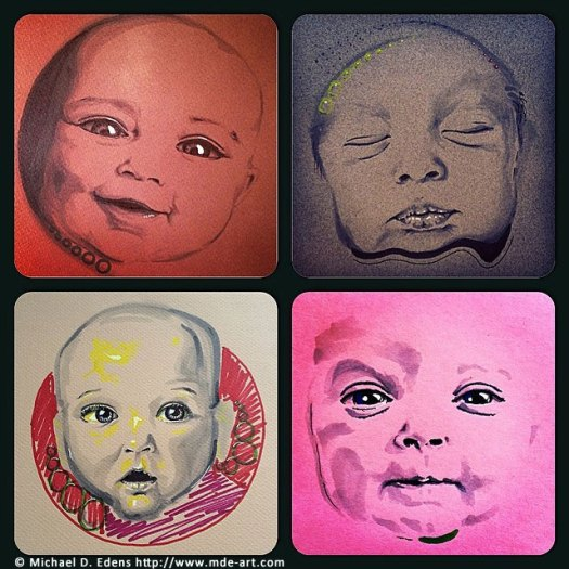 Portrait Drawings of Babies