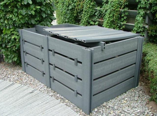 eco-oh compostbak met aanbouw, dakje en verstevigingslat
