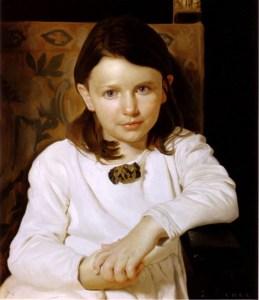 drapery and portrait